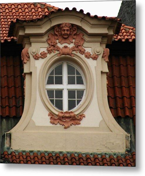 window Prague Metal Print