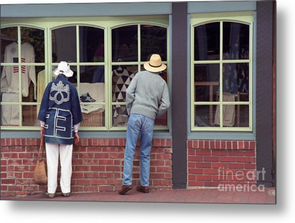 Window Shoppers Metal Print