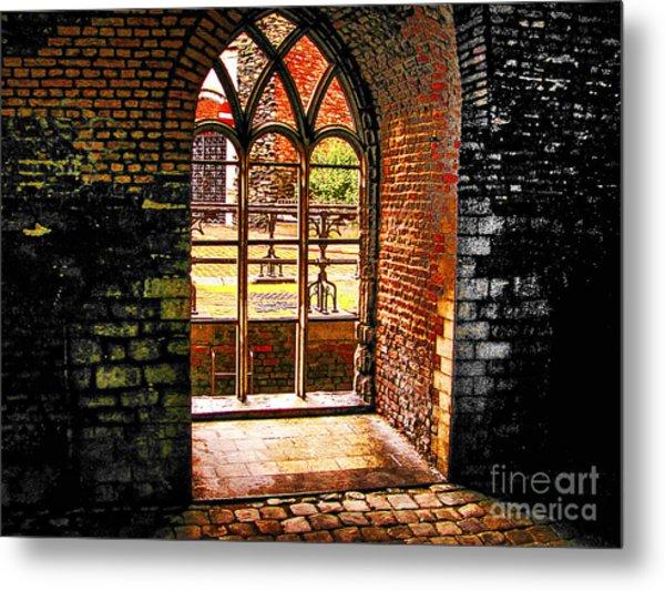 Window To Courtyard Metal Print