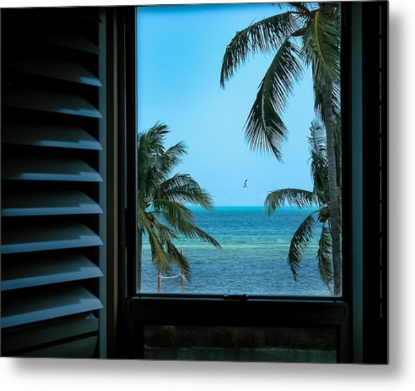 Window To Smathers Beach Metal Print