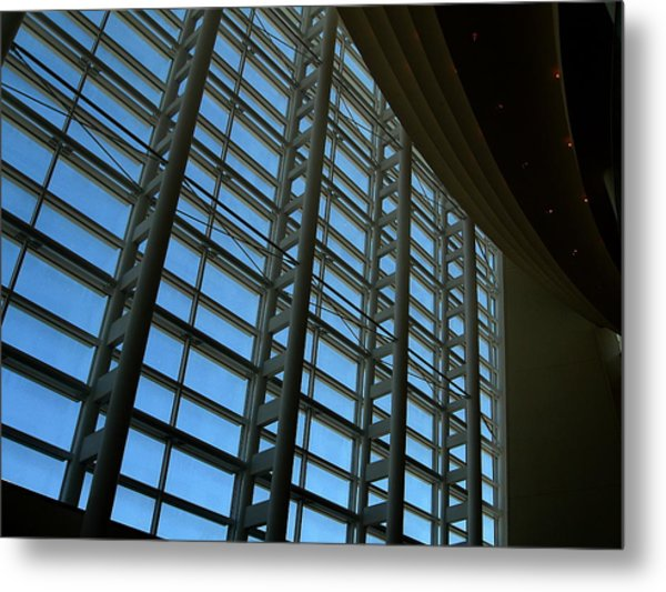 Window Wall At The Adrienne Arsht Center Metal Print