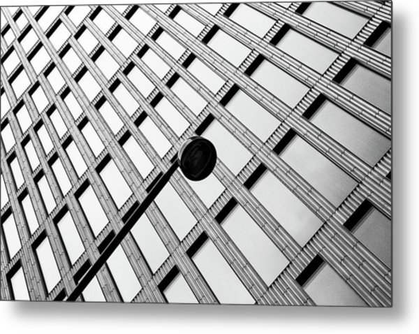 Windows And Lamp Metal Print by Inge Schuster