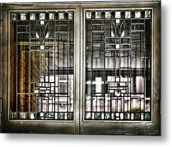 Windows Of A Prairie House  Metal Print