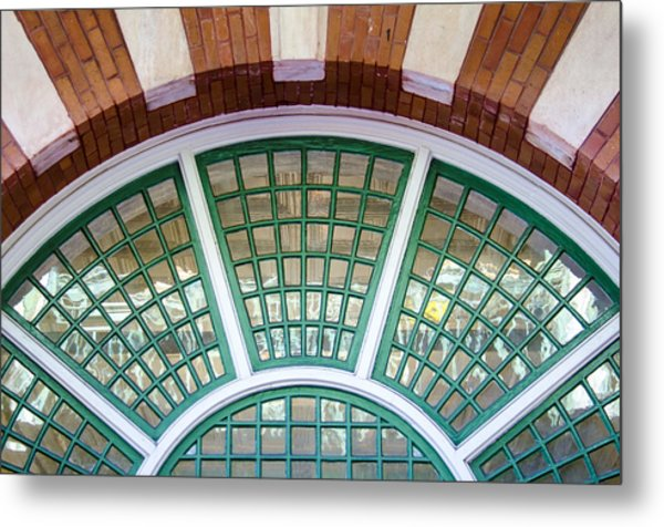 Windows Of Ybor Metal Print