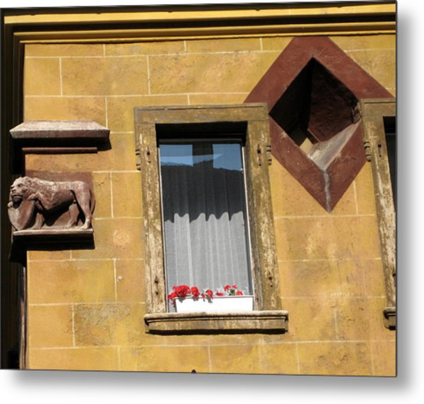 Windows To Budapest Metal Print