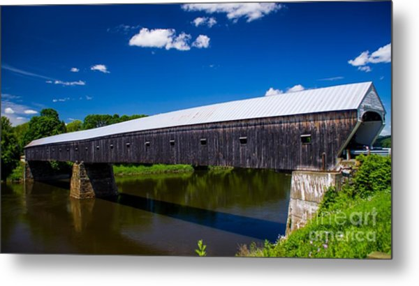 Windsor - Cornish Covered Bridge. Metal Print