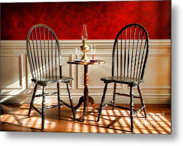 Windsor Chairs Metal Print