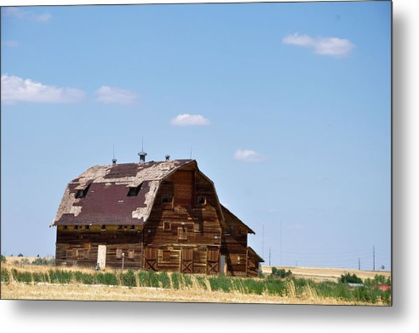 Windswept Colorado Barn Metal Print