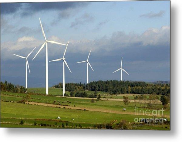 Windturbines Metal Print