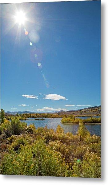 Windy Gap Reservoir Metal Print by Jim West/science Photo Library