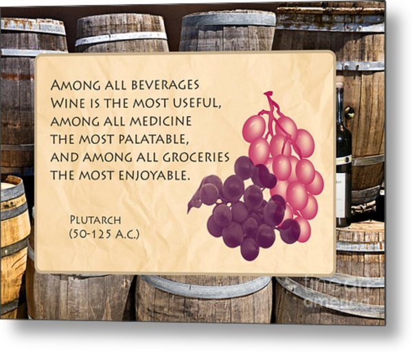 Wine - Best Medicine Metal Print