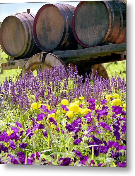Wine Barrels At V. Sattui Napa Valley Metal Print