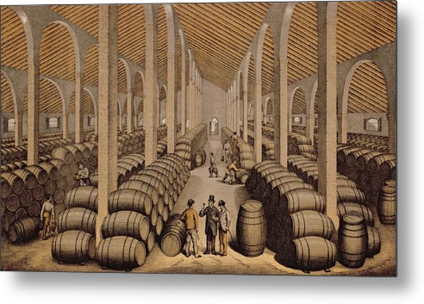 Wine Cellar At Jerez De La Frontera  Metal Print