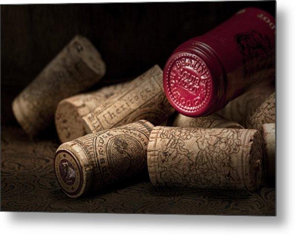 Wine Corks Still Life Iv Metal Print