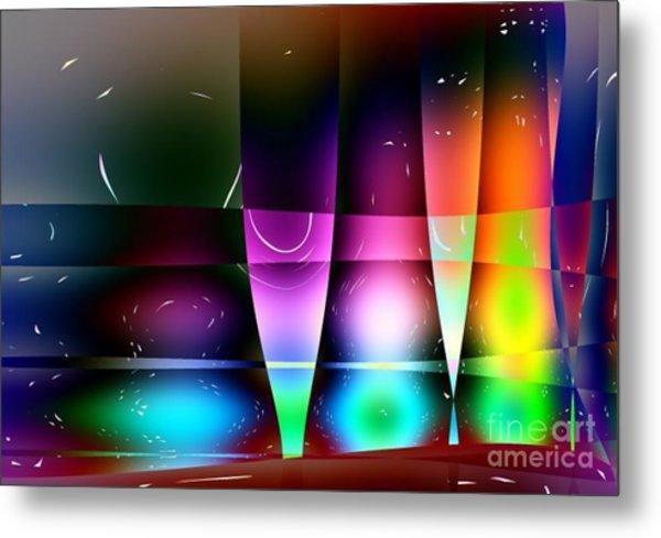 Wine Glasses Metal Print by Robert Burns
