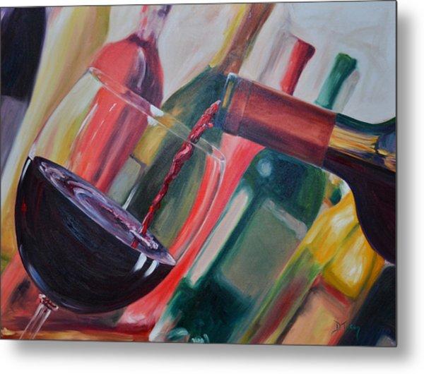 Wine Pour IIi Metal Print
