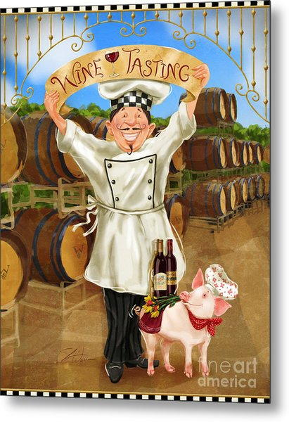 Wine Tasting Chef Metal Print