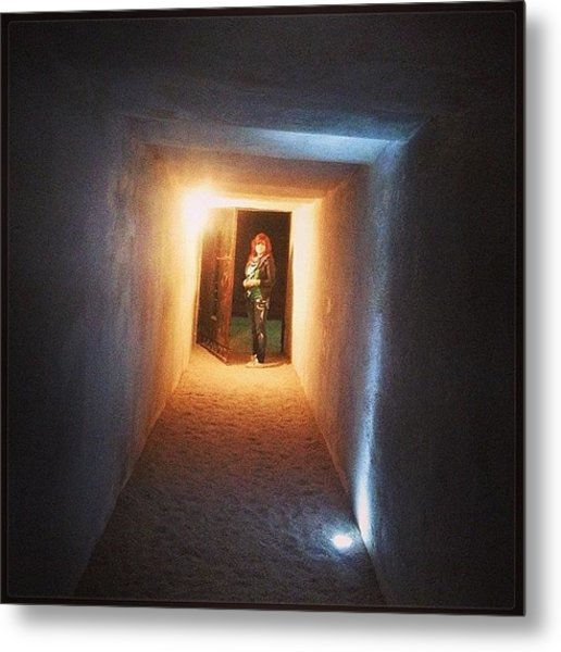 #wine #winecellar #dungeon #way #travel Metal Print