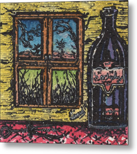 Wine With A View Metal Print