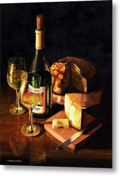 Wine With Cheese Metal Print