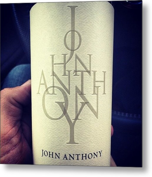 #winesnob #johnanthony #wine Metal Print