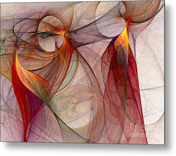 Winged-abstract Art Metal Print