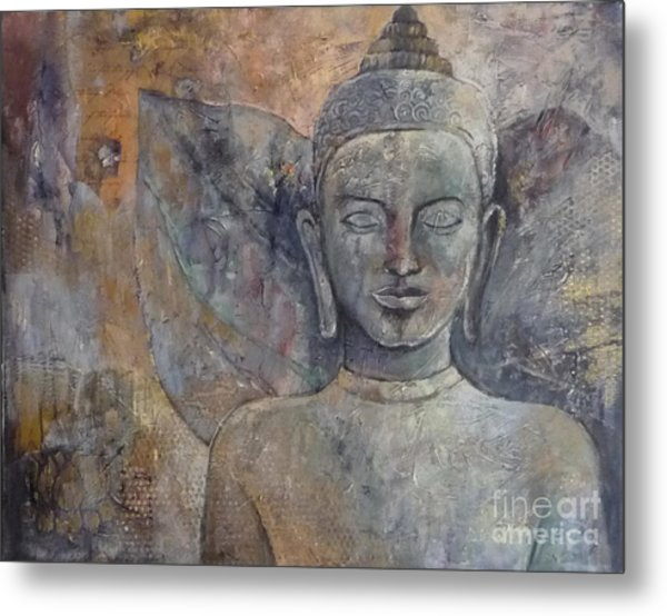 Winged Buddha Metal Print by Paulina Garoa