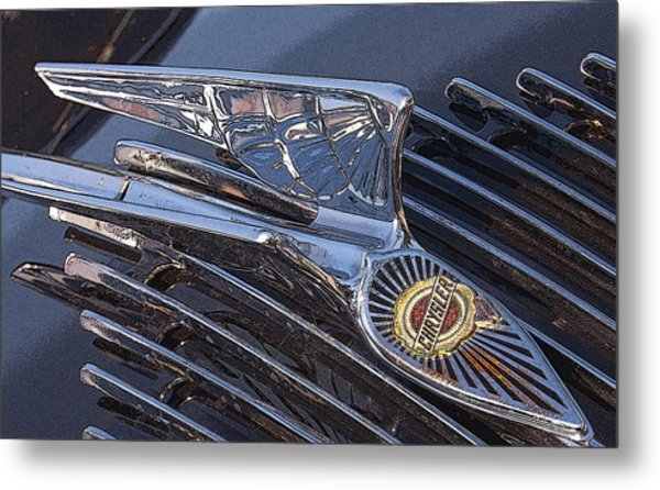 Wings On The Grill Metal Print