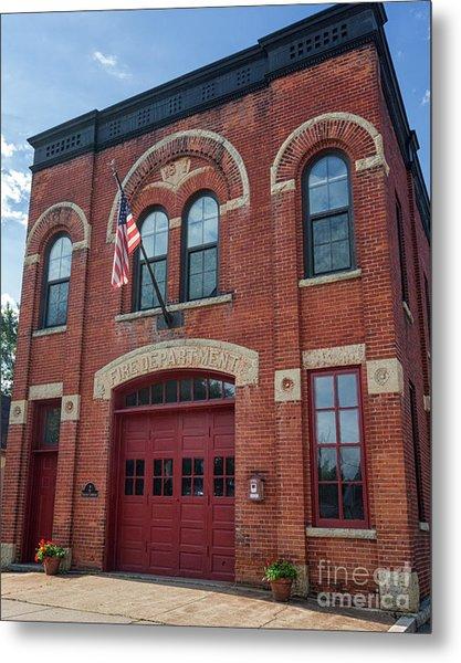 Winona East End Fire Station Metal Print