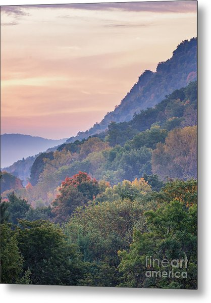Metal Print featuring the photograph Winona Fall Colors Slopes II by Kari Yearous
