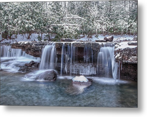 Winter A Camp Creek Metal Print
