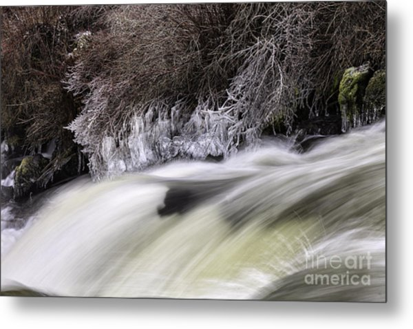 Winter At Dillon Falls Metal Print