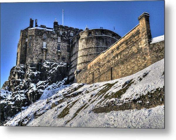 Winter At Edinburgh Castle Metal Print