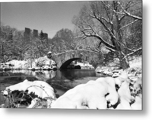 Winter At Gapstow Bridge Metal Print