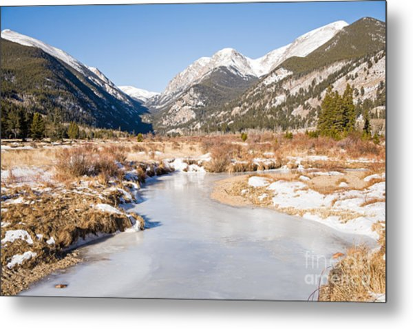 Winter At Horseshoe Park In Rocky Mountain National Park Metal Print