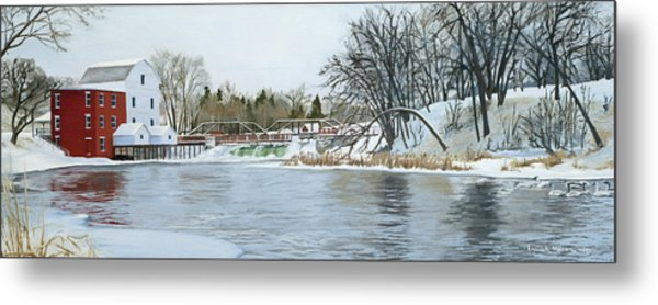 Winter At Phelps Mill Metal Print