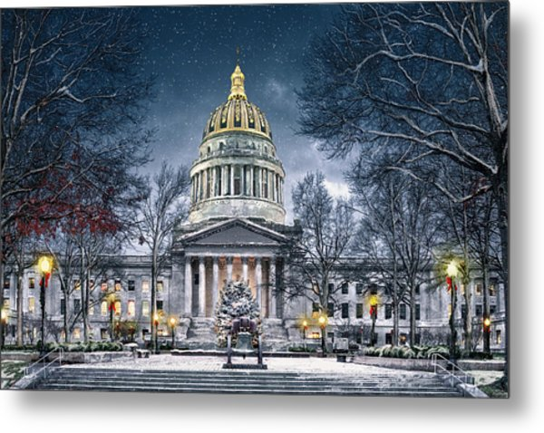 Winter At The Capitol Metal Print