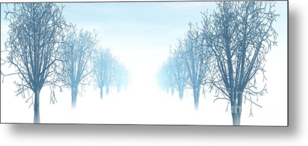 Winter Avenue Metal Print