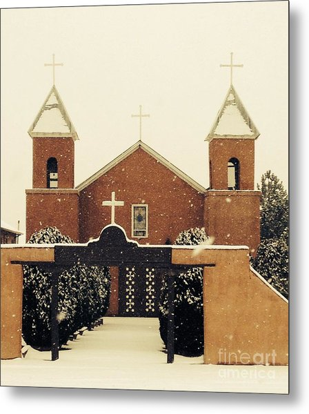 Winter Church Metal Print