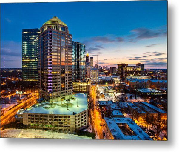 Winter City Wonderland Metal Print by Scott Moore