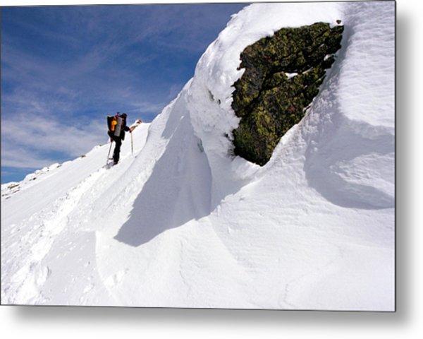 Winter Climb On Mount Lafayette Metal Print