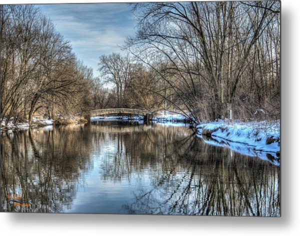 Winter Creek Metal Print by Dan Crosby