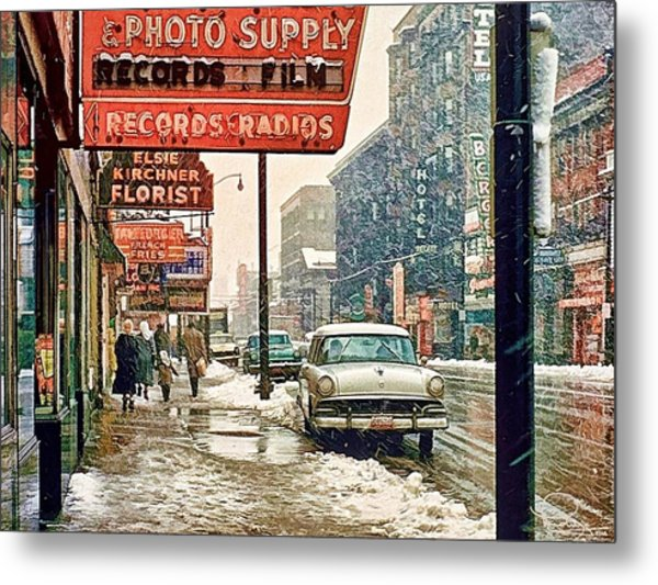 Winter Day On Euclid Avenue Metal Print