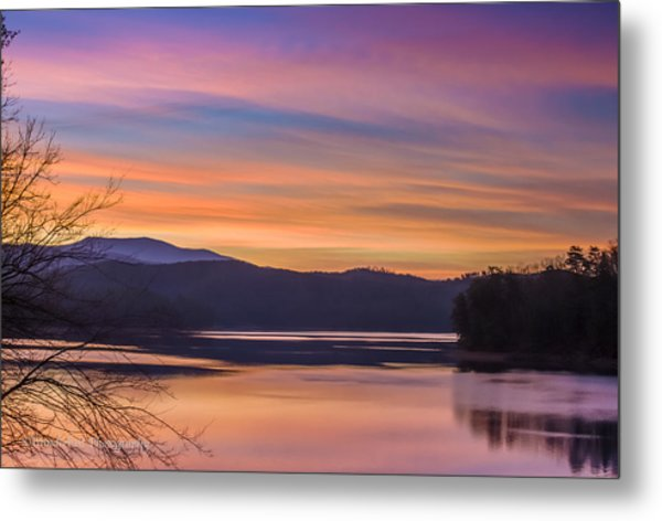 Winter Daybreak At Ocoee Lake Metal Print by Paul Herrmann