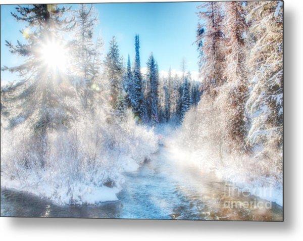 Winter Delight On Lolo Creek Metal Print by Katie LaSalle-Lowery