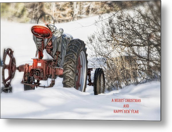 Winter Downtime Christmas Card Metal Print