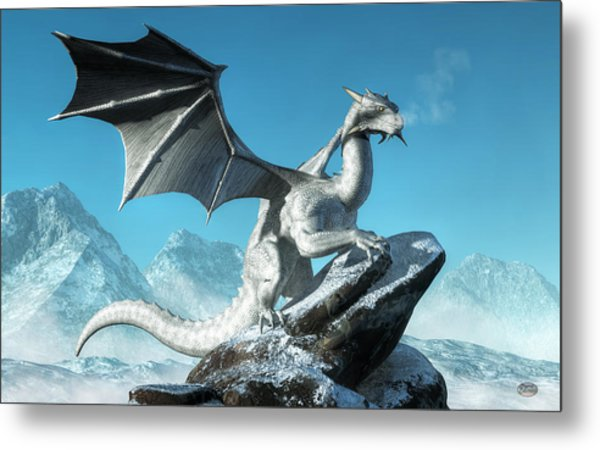 Winter Dragon Metal Print
