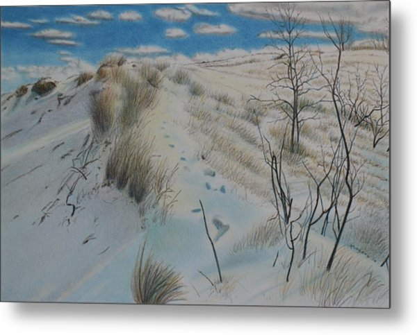Winter Dune Metal Print