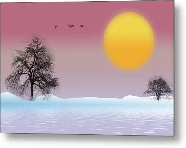 Winter Evening Metal Print