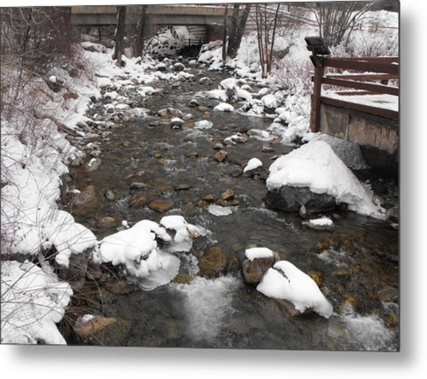 Winter Flow Metal Print